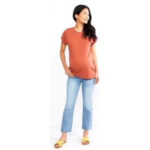 7 For All Mankind Raw Hem Maternity Jeans